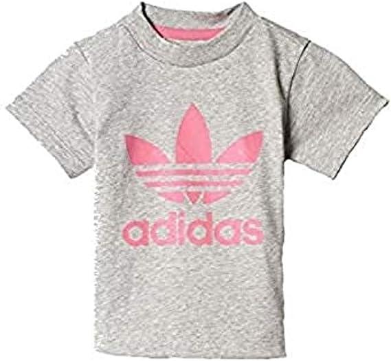 adidas I Trefoil tee Camiseta Niña Gris: Amazon.es: Ropa y