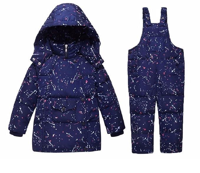 a47ff4e18 Children s Girls Boys 90% Warm Duck Down clothing set kids winter ...