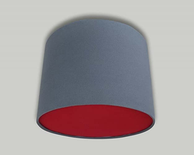 Dark grey drum ceiling lampshade with red diffuser 20cm 25cm 30cm dark grey drum ceiling lampshade with red diffuser 20cm 25cm 30cm 35cm 40cm 50cm 60cm 70cm mozeypictures Image collections