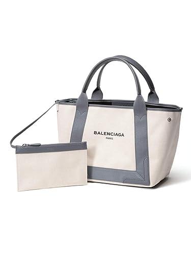 1cfe6ebd3135 (バレンシアガ) BALENCIAGA キャンバス ロゴプリント ポーチ付き トートバッグ [BCL339933AQ38N]グレー /