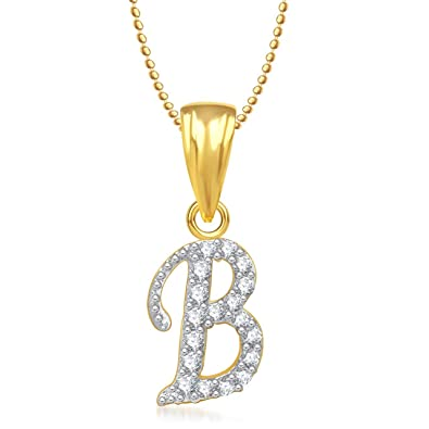 diamond white b in pendant pennyw knot pattern initial with gold necklace pendants celtic