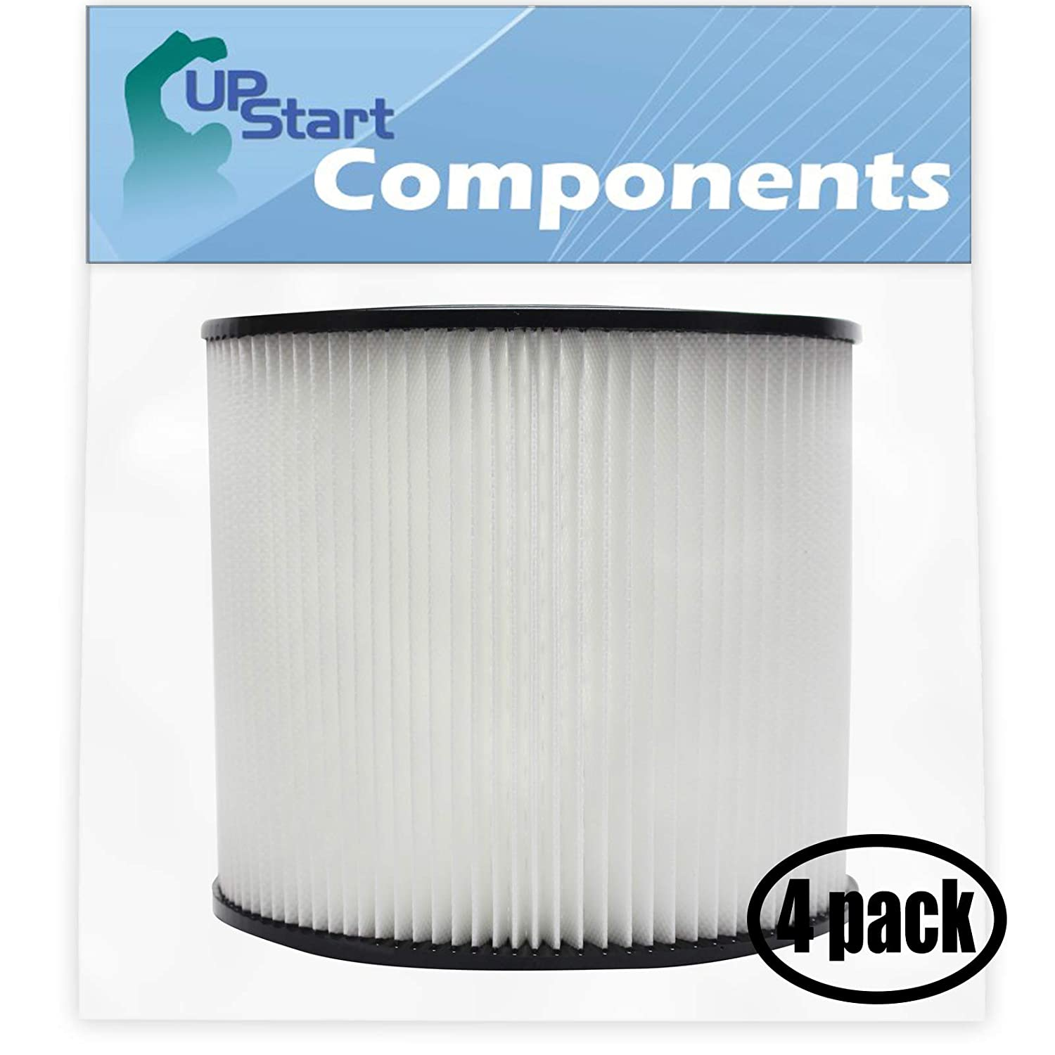 4-Pack Replacement 90304 Filter with 1 Micro Vacuum Attachment Kit for Shop-Vac – Compatible with Shop-Vac 90304, Shop-Vac LB650C, Shop-Vac QPL650, Shop-Vac 965-06-00, Shop-Vac CH87-650C, Shop-Vac SL14-300A, Shop-Vac 925-29-10, Shop-Vac 963-12-00, Shop-Vac 596-07-00, Shop-Vac 586-74-00, Shop-Vac 586-75-00, Shop-Vac 586-76-00