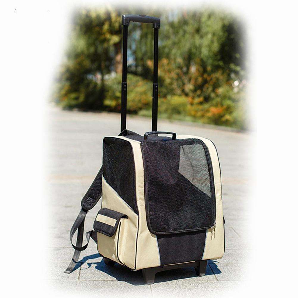 RUNGAO 4 en 1 Transportín de Viaje para Mascotas para Perros y Gatos Mascota Rodillo transportador Back Pack Perro Gato Rueda Equipaje Bolsa de Viaje, ...
