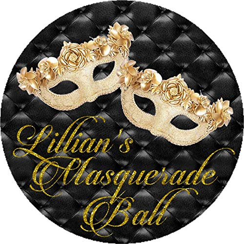 Amazon Com Gold Masquerade Ball Party Sticker Labels Or Masquerade