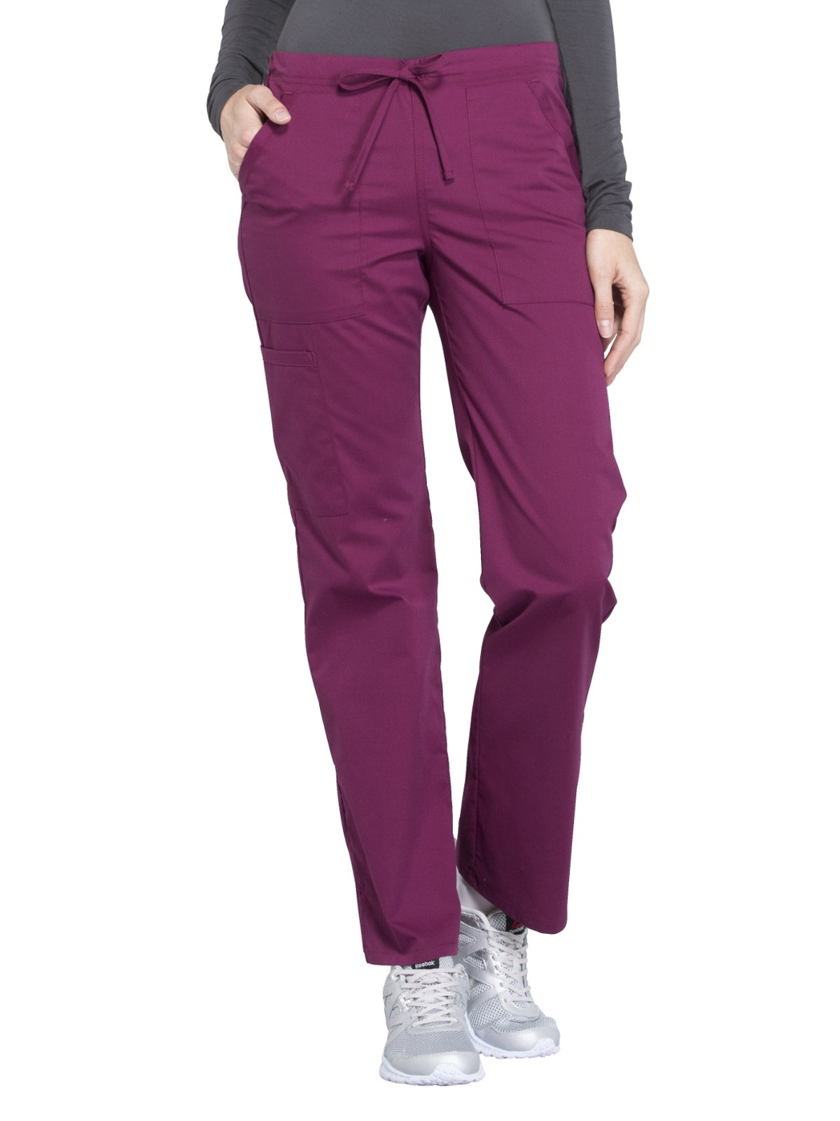 Cherokee Workwear Professionals WW160 Straight Leg Pant- Wine- Small