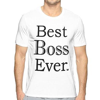 5de55a5f5 Best Boss Ever Unique Men's 3D Printed Crew Neck Short Sleeve T-Shirt Top  Tees
