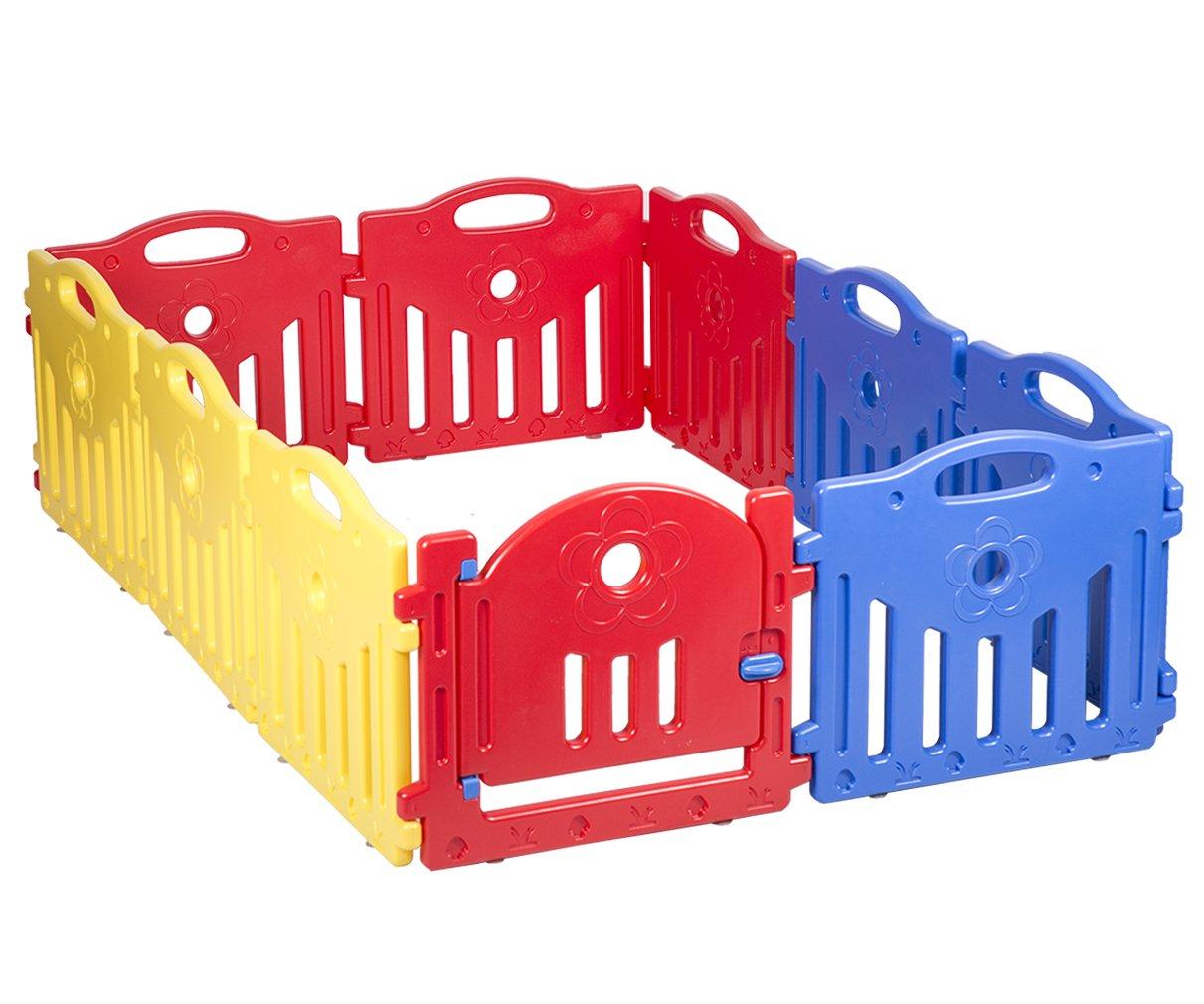 Baby Playpen PlaySafe Activity Center 10 Panel Adjustable Playard Kids w/Lock by FDW (Image #3)