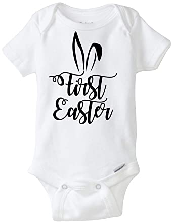 962b2be48099 Amazon.com: QLShops Baby First Easter Onesie: Clothing