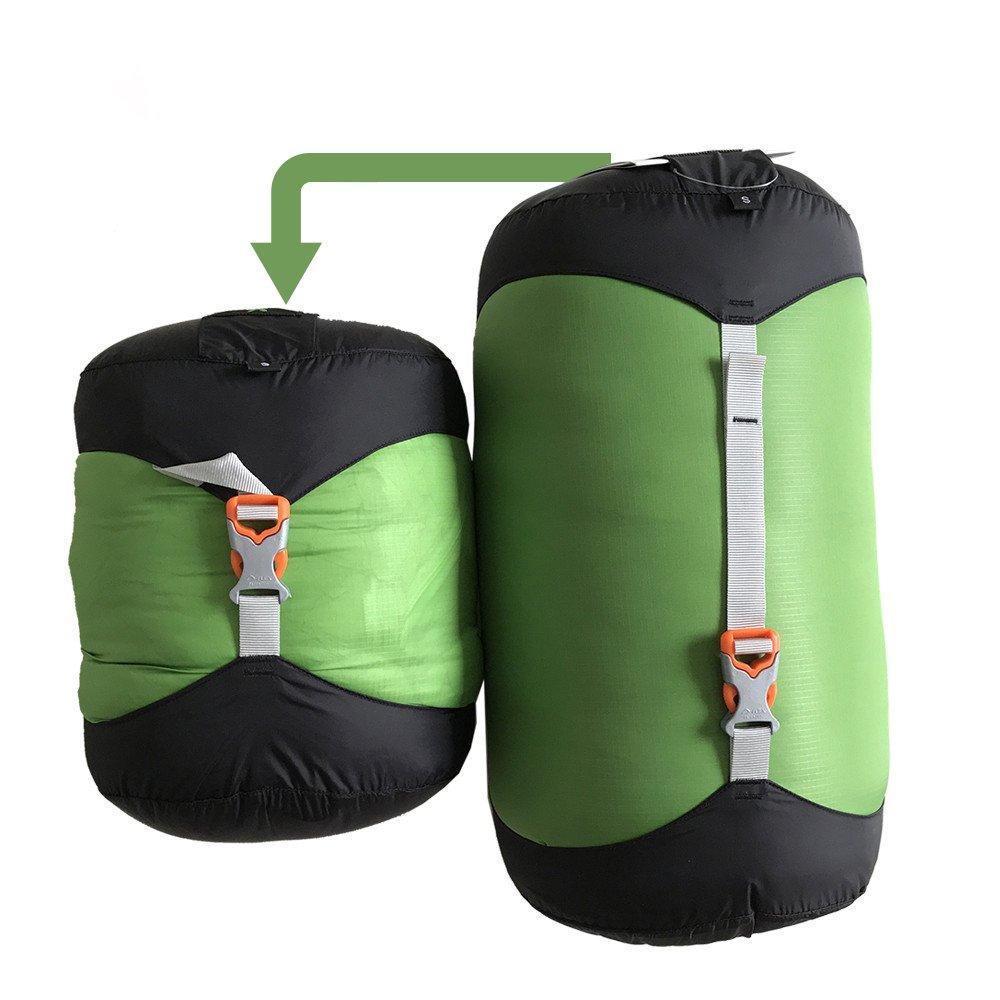 WIND HARD Compression Stuff Sack Waterproof Sleeping Bag Compression Stuff Sack Pack Storage Bags 5 Size (4.5L-14L) by WINDHARD (Image #2)