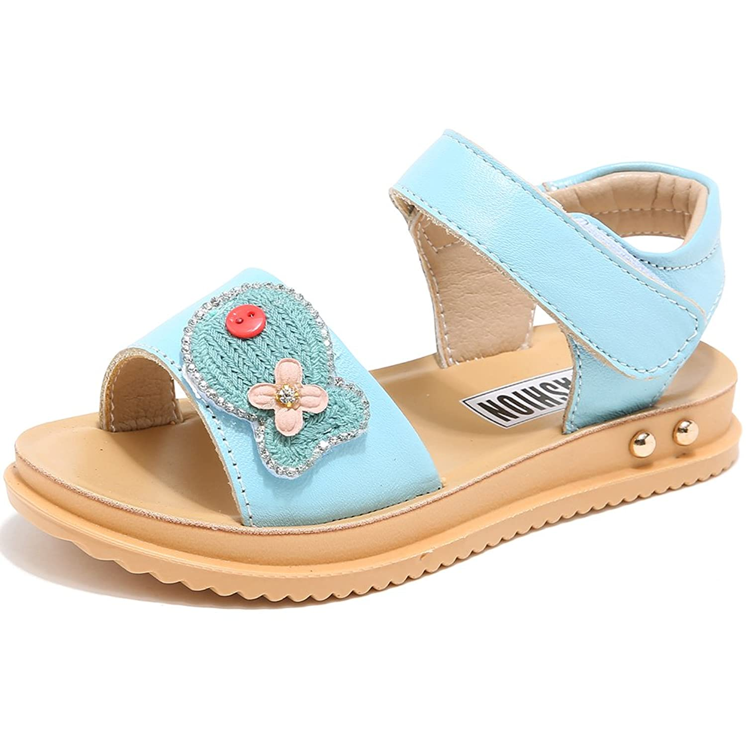Hobibear Girls Leather Strap Cute Sandals Open Toe (Toddler/Little Kid/Big Kid) by Hobibear