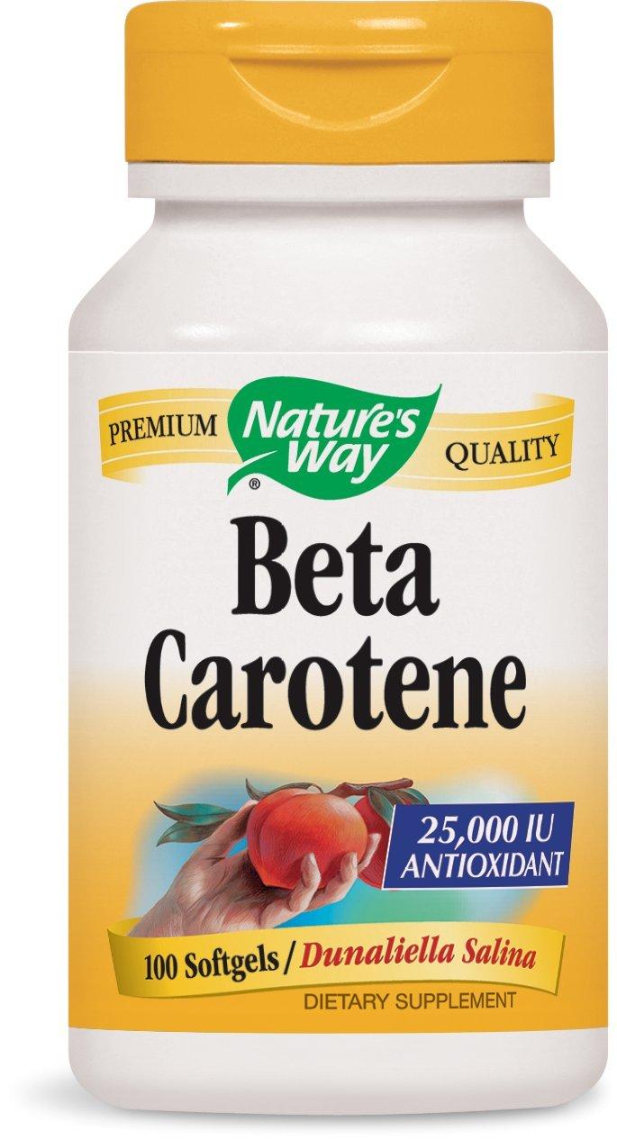 Nature's Way Natural Beta Carotene, 100 Softgels