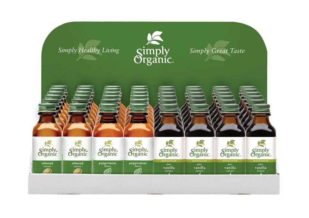 Simply Organic Food Flavor Holiday Baking Flavor Display 48 Count. by Simply Organic