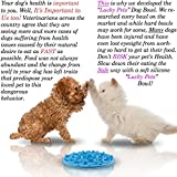 Slow Feed Dog Bowl - FDA Approved Bloat Remedy will Guarantee Slower Feeding time - Great for Cats (Blue, Large)