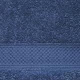 Welhome Basic 100% Cotton Towel (Cobalt) - 8 Piece