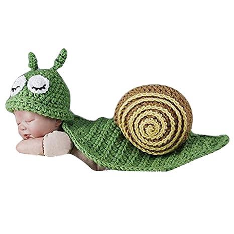 TININNA Déguisement Bébé Costume Animaux Bonnet Crochet 0-9 Mois Garçon  Fille Photographie Props 3bd13ddc7e1