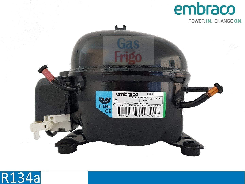 Compresor emt6170z Gas R134 a 1/4: Amazon.es: Bricolaje y herramientas