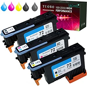 Tuobo H-P 72 Remanufactured printheads C9380A C9383A C9384A with New Updated Chips Compatible with H-P Designjet T610 T620 T770 T790 T1100 T1120 1200 T1300 T2300 (1 Set Printhead)