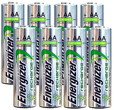 Energizer AA Rechargeable batteries NiMH 2300 mAh 1.2V NH15 - 8 Count