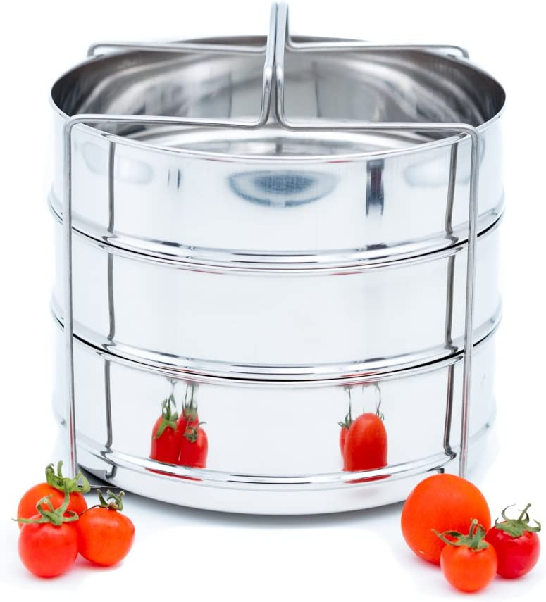 STEAMER INSERT PRESSURE COOKER ACCESSORIES With 3 insert pans and a GRIPPER (5 Qt)