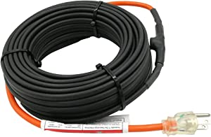 TOPDURE TDSF Self Regulating Pre-assembled Pipe Heating Cable 30-feet 120V