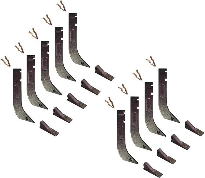 H920 K1306 Gannon Scraper Box Shanks w Scarifier Teeth /& Clips 7 8075