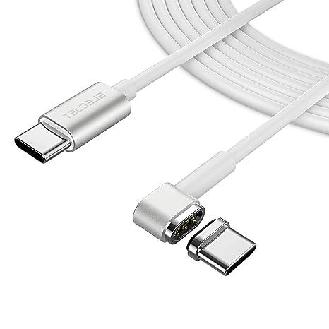 Elecjet Magnético Cable USB C, 6PIN Cable USB C a C para MacBook Pro, Cargador Rápido para Galaxy S9 / S8 Plus, Nota 9, Huawei P20 Pro, Dell XPS y ...
