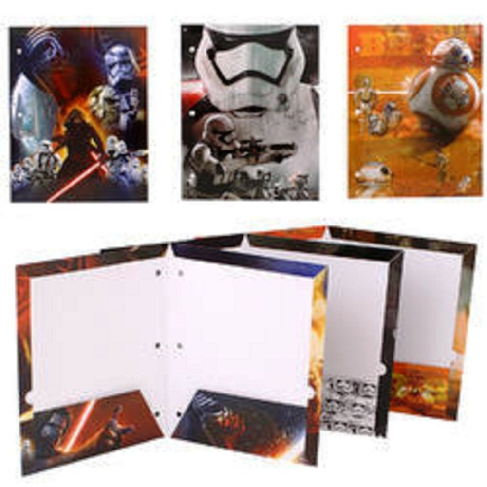 Star Wars 7 Portfolio The Force Awakens - Set of 3 Portfolio 2 Pocket School Folders Tri-Coastal Design 60379