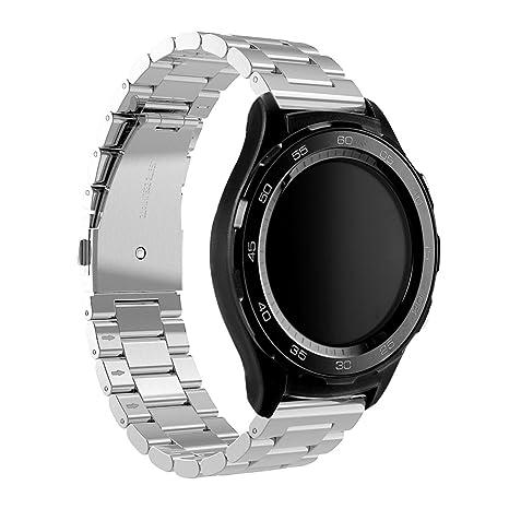 Huawei Watch 2 Reloj Banda, Dokpav® Reemplazo Pulsera de Acero inoxidable Correa de Reloj
