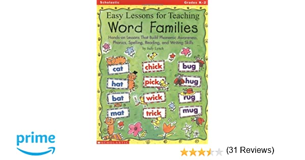 Amazon.com: Easy Lessons for Teaching Word Families: Hands-on ...