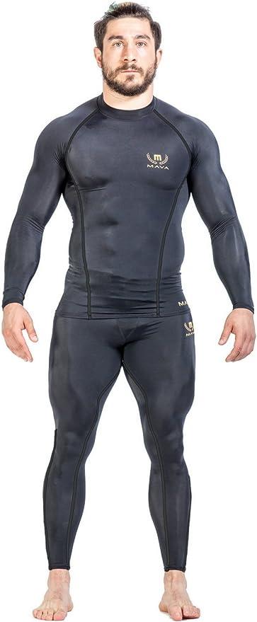 Details about  /MAVA Men/'s Compression Shorts Performance Tights Black /& Gold Medium