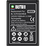 IBESTWIN LG G4 Battery 3000mAh 3.85 V Phone Rechargeable Replacement Battery for LG G4, BL-51YF, H818, LG G4 Spare Battery [24 Month Warranty]