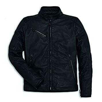 Amazon.com: Ducati Men's Downtown Perforated Leather Jacket ...