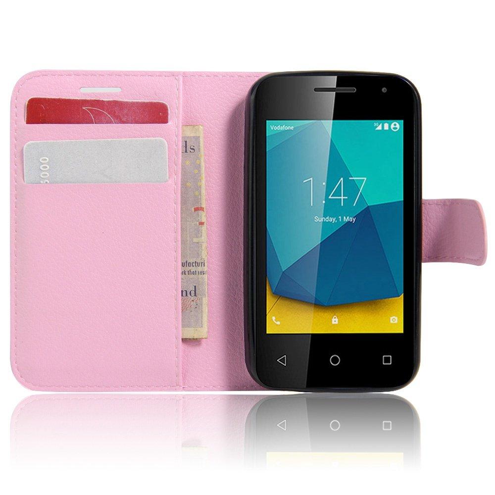 Ycloud Funda Libro para Vodafone Smart Turbo 7, Suave PU Leather Cuero con Flip Cover, Cierre Magnético, Función de Soporte,Billetera Case con Tapa para ...