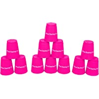 Trademark Innovations Quick Stack Copas – Velocidad Entrenamiento Deportes Stacking Cups – Set de 12 (Rosa)