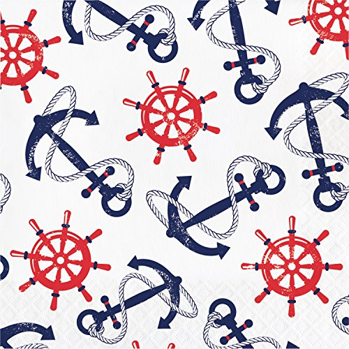 Anchors Away Napkins, 48 Count