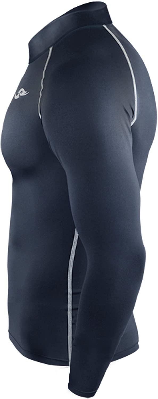 New 187 Dark Navy Skin Tights Compression Base Layer Sports Shirt Mens Top