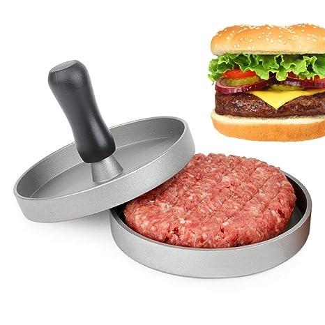 Prensa para Hamburguesas, Isenretail Prensador de Hamburguesas, el mejor molde de carne de vaca de la carne para el hogar hecha a mano con Patty ...