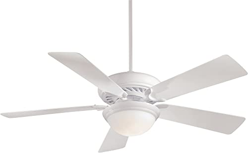 Minka-Aire F569-WH Supra 52 Ceiling Fan with Light and Remote, White