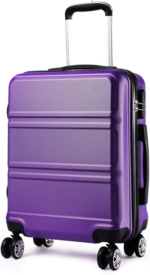 Kono Lightweight Cabin Carry on Case with Spinner Wheels