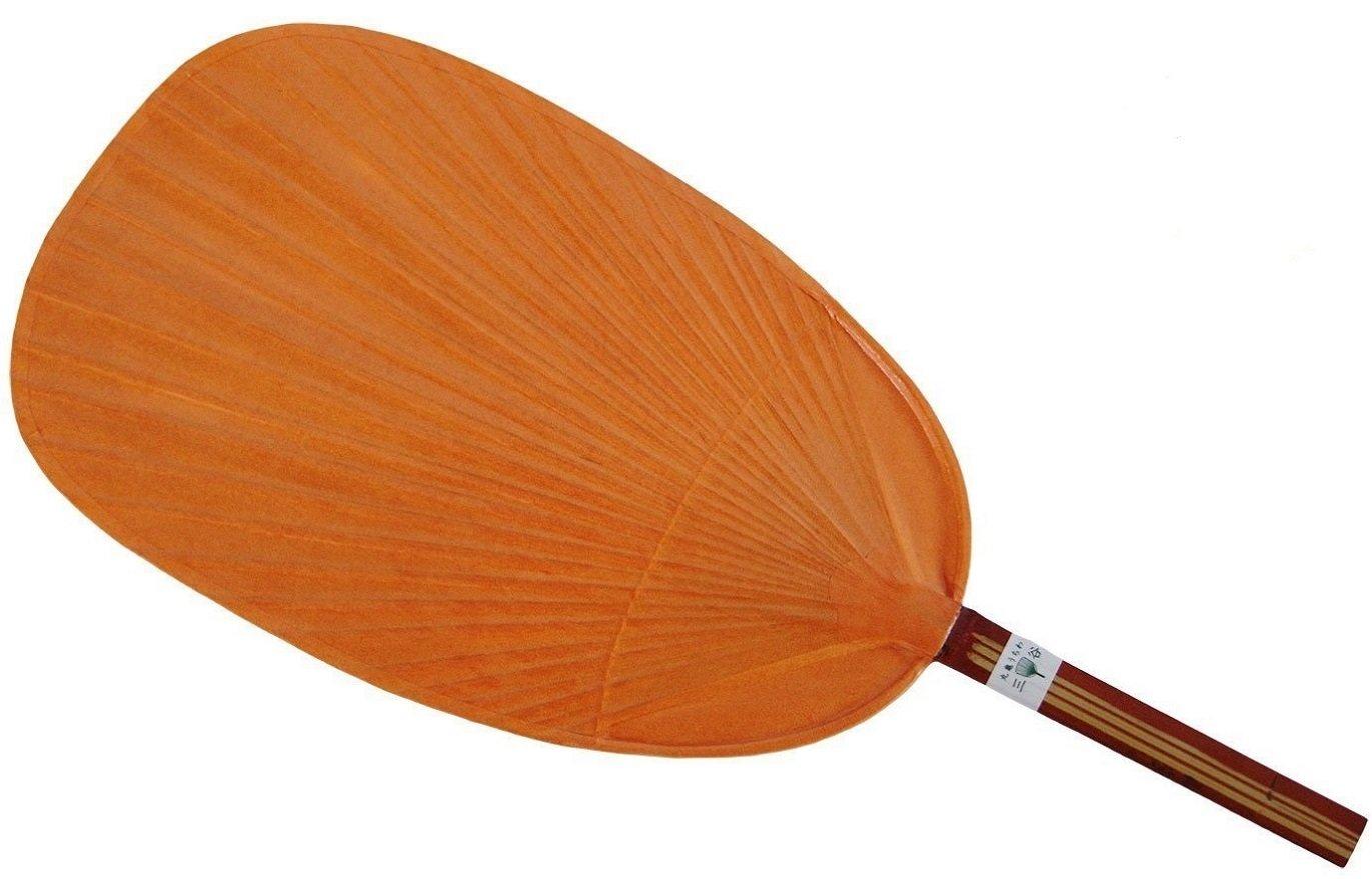 渋うちわ 丸亀うちわ 柿渋 天然竹 日本製 うちわ職人さんの手づくり(オレンジ)