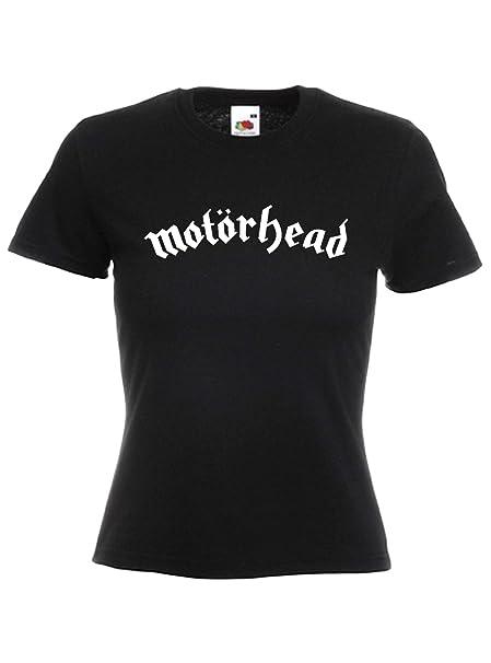 Camiseta Mujer Motorhead - camiseta rock metal 100% algodon LaMAGLIERIA: Amazon.es: Ropa y accesorios