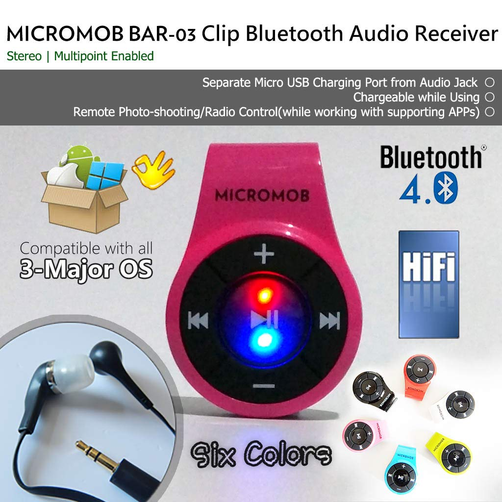Receptor Bluetooth 4.0 MICROMOB BAR-03 BAR-03