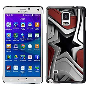 LECELL -- Funda protectora / Cubierta / Piel For Samsung Galaxy Note 4 SM-N910F SM-N910K SM-N910C SM-N910W8 SM-N910U SM-N910 -- Abstract Star Shape --