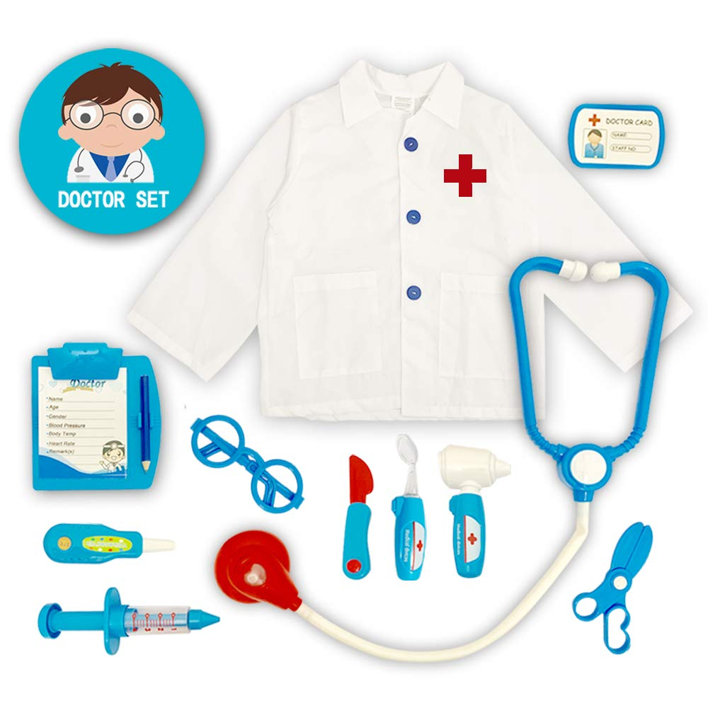 CZC GIFT Kids Doctor Kit, 11 Pretend Doctor Role Playing Kits, Pretend to Play Doctor Suits with Doctor Clothing and Accessories by CZC GIFT