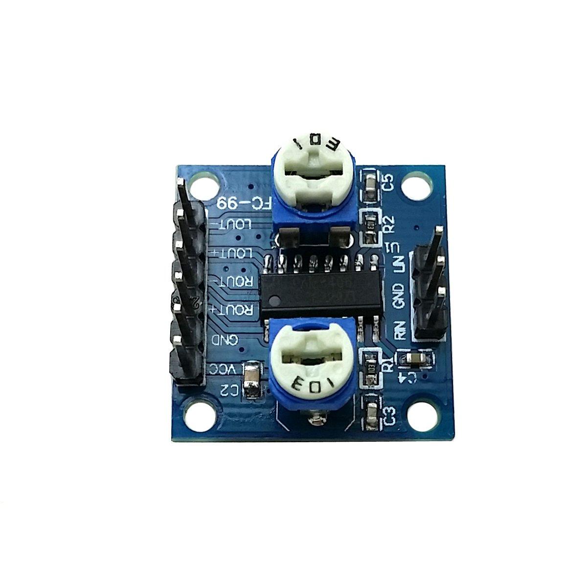 Ecloud Shop 10 PCS PAM8406 MiNi Amplifier Board Module(5W+5W) D Class Amplifier Board