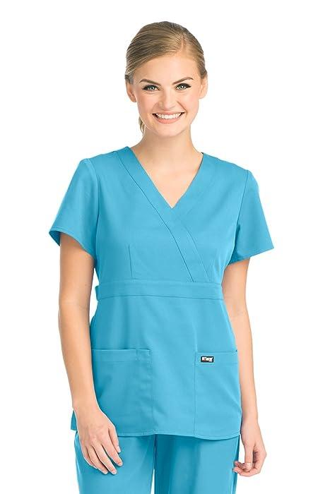 Amazon Barco Greys Anatomy 4153 Womens Mock Wrap Top