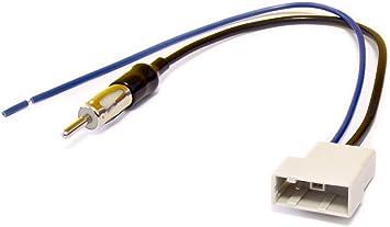 Antena de radio Cable Adaptador Antena de radio adaptador GT13 (– Conector DIN para Nissan Tiida, Navara, Pathfinder, Qashqai, X-Trail (a partir de ...