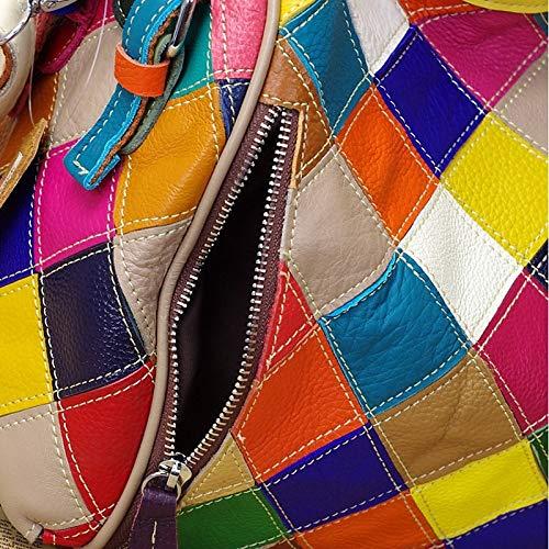 Sacs Bandoulière Joint Cuir À Sacs À sac à À Dos en main Split Rainbowcross À Main Sacs Sac À Carreaux Bandoulière De Vache QZTG Body OwUaq0