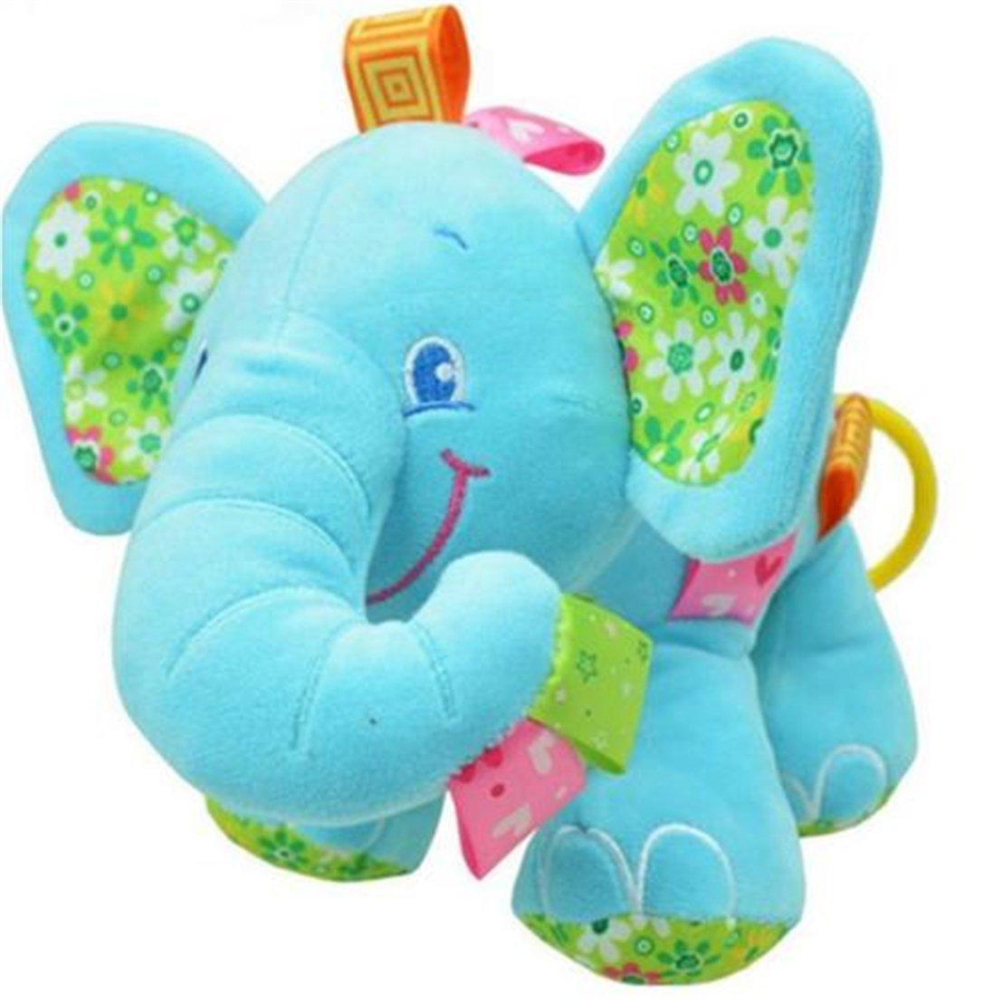 Unke Elephant Stuffed Plushベビーベッドベッド車Hanging Hand RattlesベビーキッズMusical Toy As description グリーン UNIQUE XXX  グリーン B074SNRSJX