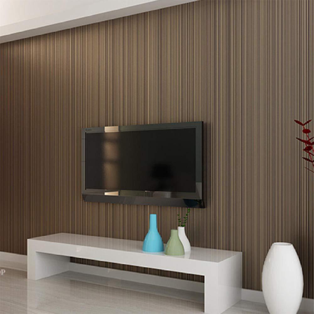ACCEY Estilo moderno 3D Fondo de pantalla de sensaci/ón para la sala de estar Decoraci/ón de dormitorio Papel pintado a rayas Rollo Papeles de escritorio@Light/_Coffee/_7073/_5.3㎡